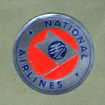 Vintage Airline luggage label  national airline  #573